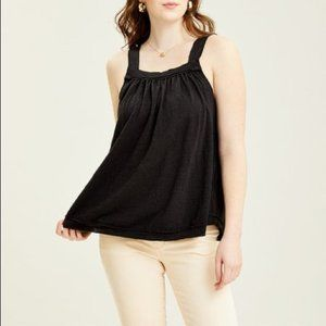 Free People Black Good For You Tank Top S NWT